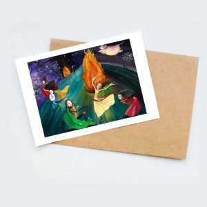 beltane illustration card